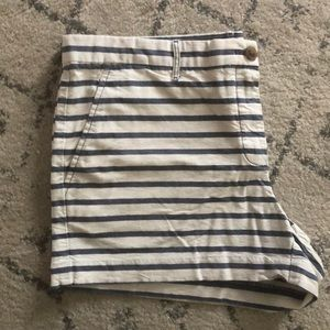 Gap blue and white striped shorts. Size 12